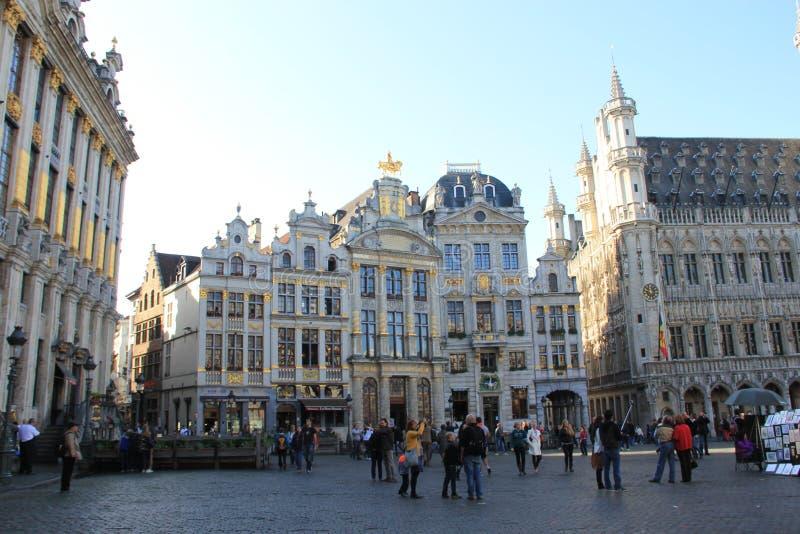 Bryssel Belgien, Grand Place arkivfoto