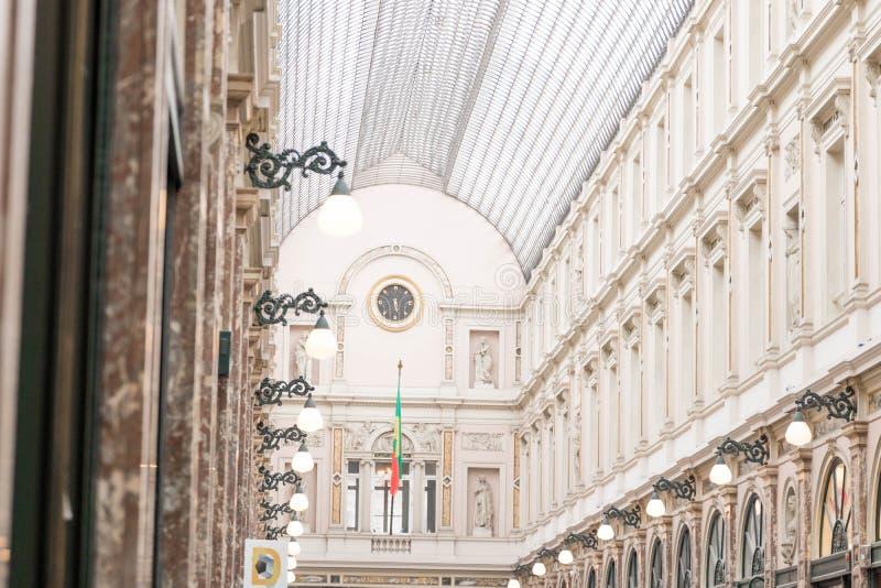 Bryssel/Belgium-01 02 19: Galerie de la reine Bryssel galleri av drottningen royaltyfri fotografi