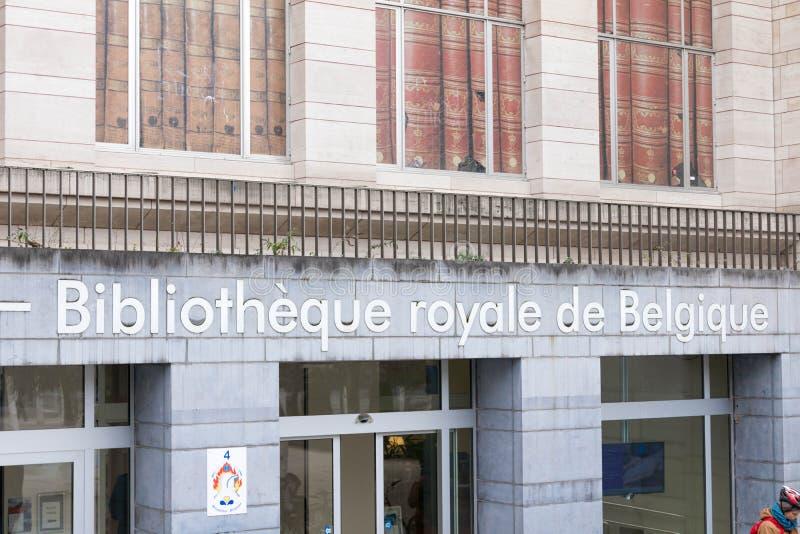 Bryssel/Belgium-01 02 19: Bryssel kungligt arkiv bredvid monteringen av konster arkivbilder