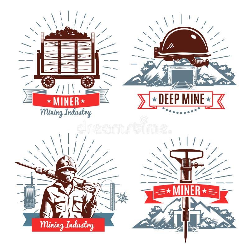Bryta emblem och designbeståndsdelar royaltyfri illustrationer
