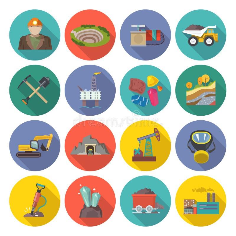 Bryta symboler framlänges royaltyfri illustrationer