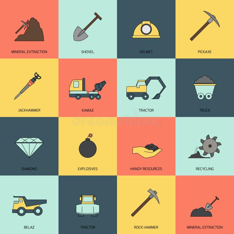 Bryta symbolslinjen lägenhet vektor illustrationer