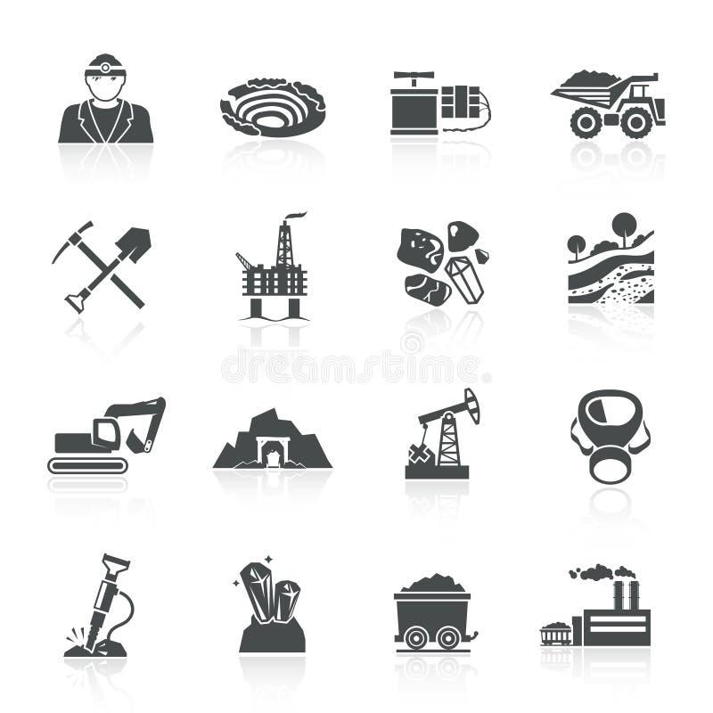 Bryta symbolssvart stock illustrationer
