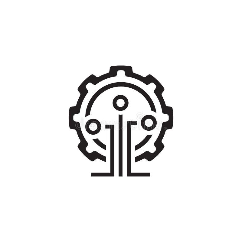 Bryta teknologisymbolen royaltyfri illustrationer