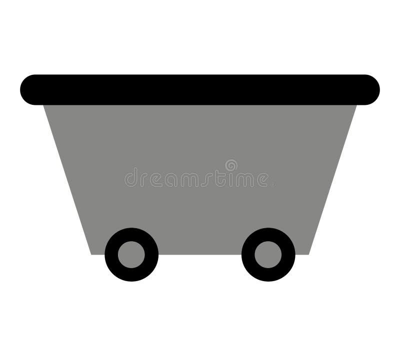 bryta vagn isolerad symbolsdesign stock illustrationer