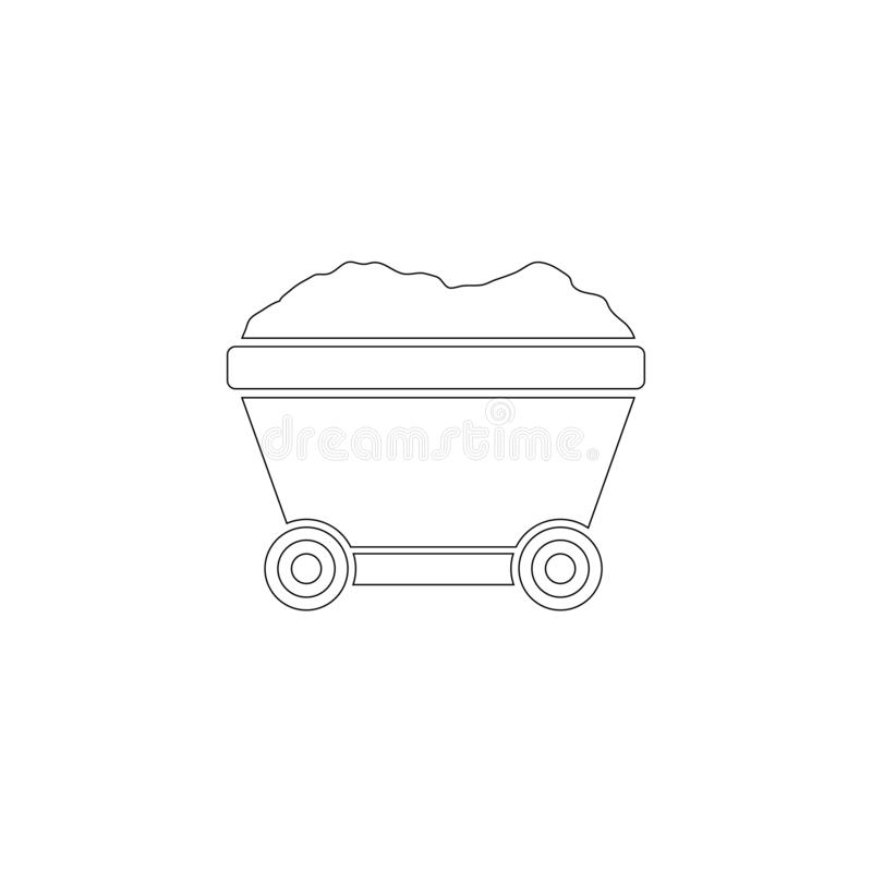 Bryta vagnen Plan vektorsymbol royaltyfri illustrationer