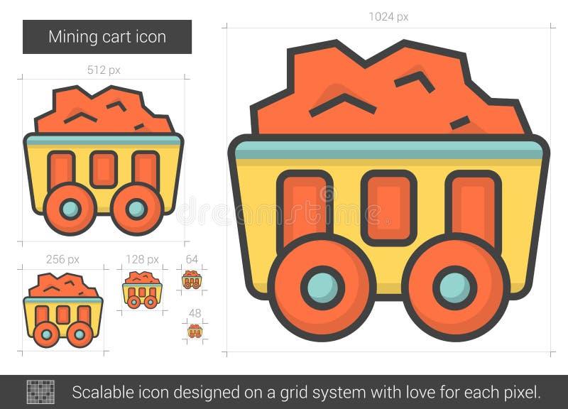 Bryta vagnslinjen symbol stock illustrationer