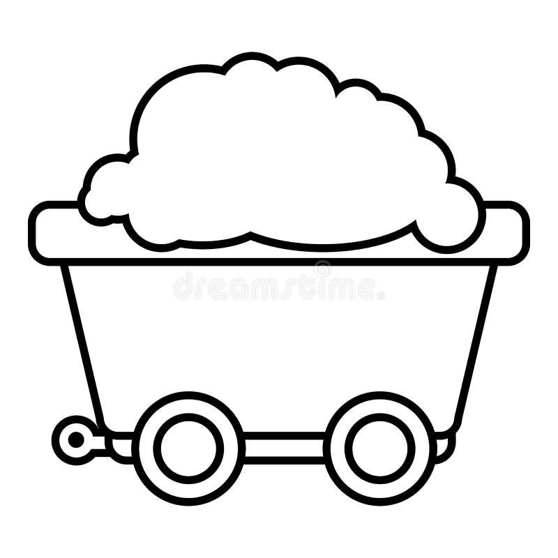 Bryta vagnssymbolen, översiktsstil vektor illustrationer