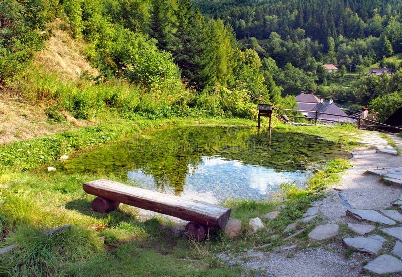 Bryta vattendraggränsmärket, Spania Dolina arkivbilder