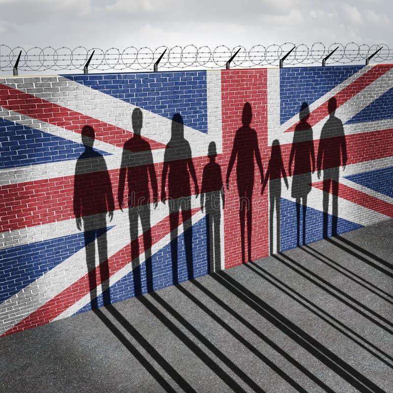 Brytania imigracja ilustracji
