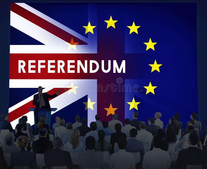 Brytania UE Brexit referendum pojęcie zdjęcia stock