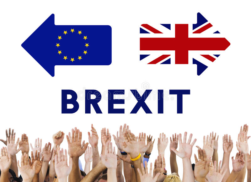 Brytania UE Brexit referendum pojęcie fotografia stock