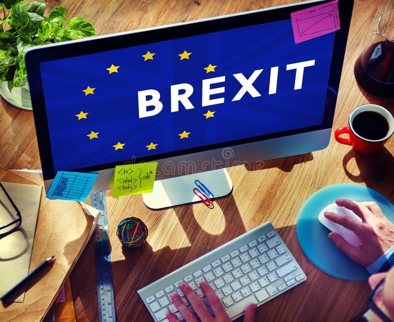 Brytania UE Brexit referendum pojęcie obrazy royalty free