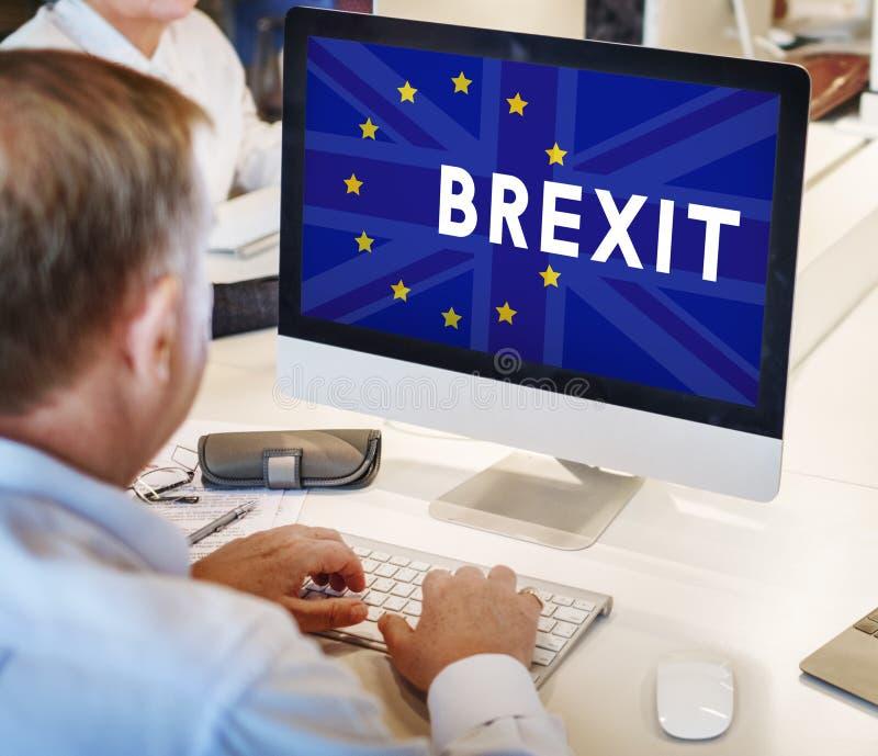 Brytania UE Brexit referendum pojęcie zdjęcie stock