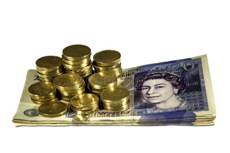 brytyjscy funty obraz royalty free