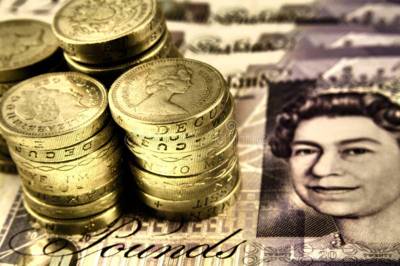 brytyjscy funty obrazy royalty free