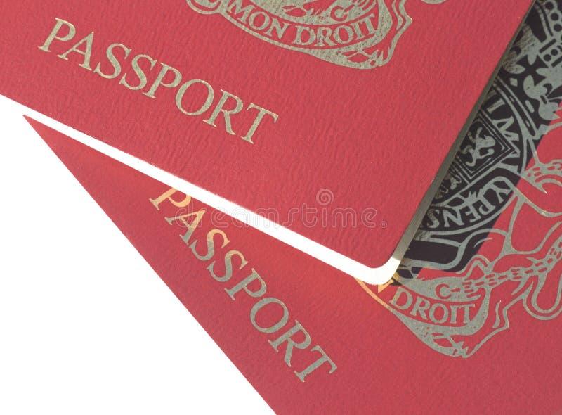 brytyjscy paszporty obraz royalty free