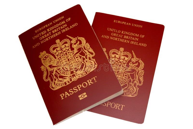 brytyjscy paszporty zdjęcia royalty free