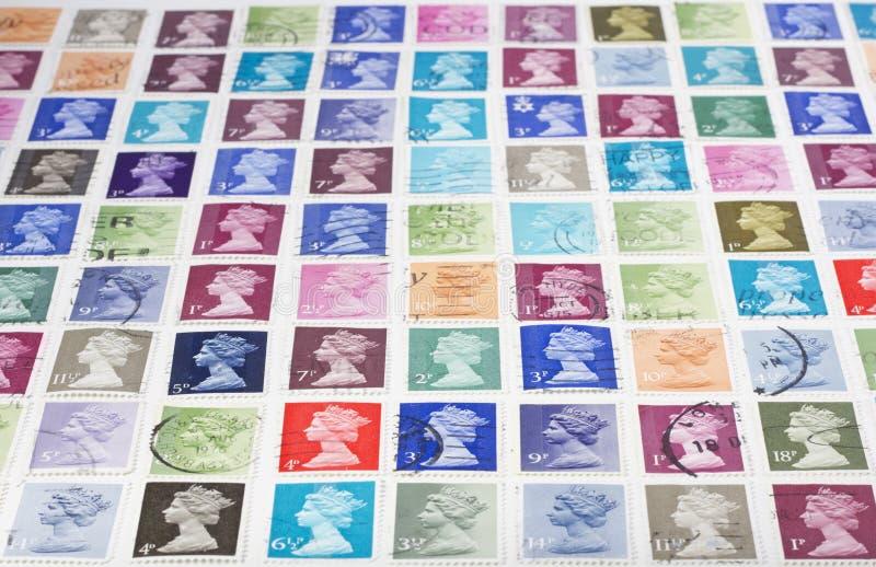 brytyjscy znaczki fotografia stock
