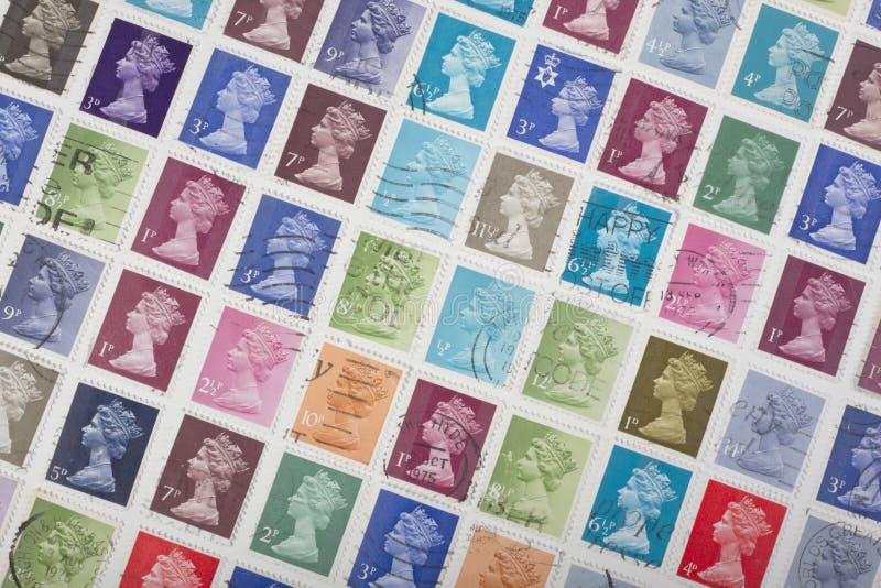 brytyjscy znaczki obrazy stock
