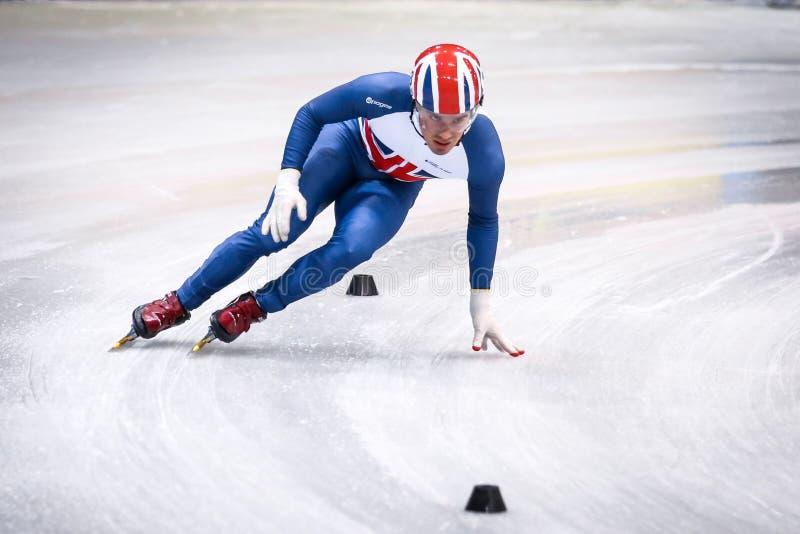Brytyjska łyżwiarka podczas puchar świata zdjęcia royalty free