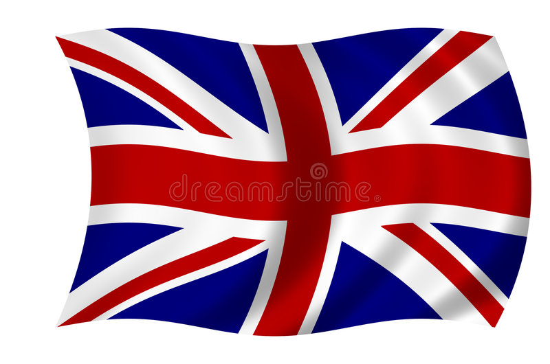 brytyjska flagę ilustracja wektor