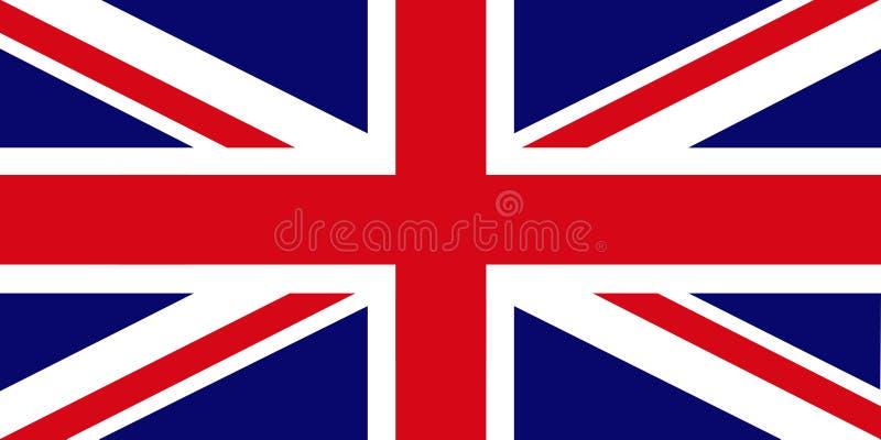 brytyjska flaga royalty ilustracja
