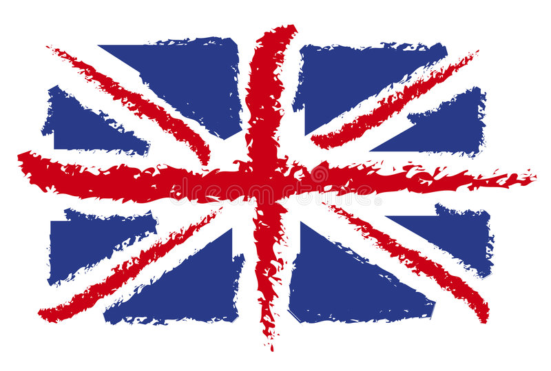 brytyjska flaga ilustracja wektor