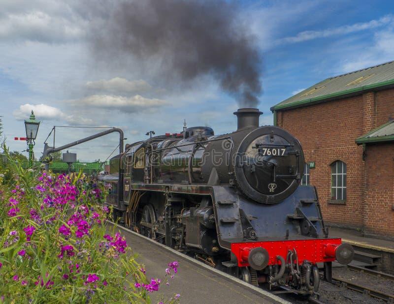 Brytyjska kolej standardu klasa 4MT Żadny 76017 fotografia royalty free