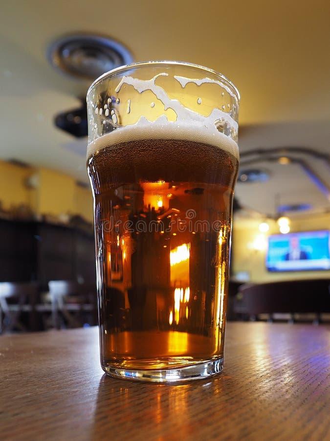 Brytyjski ale piwa pół kwarty fotografia stock