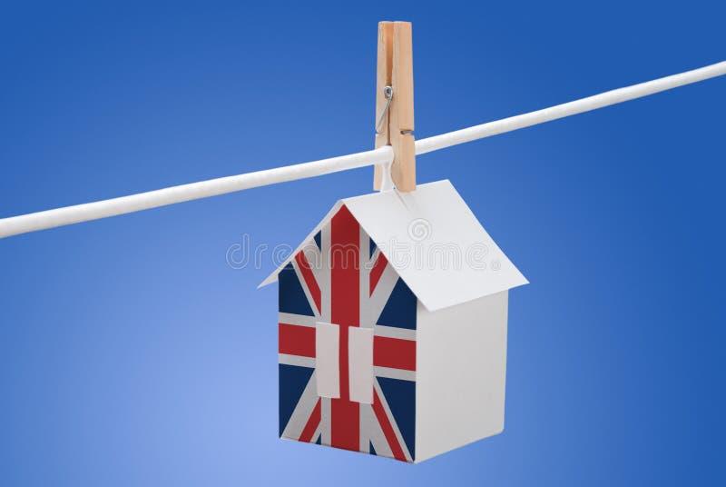 Brytyjski, Britain flaga na papieru domu fotografia royalty free