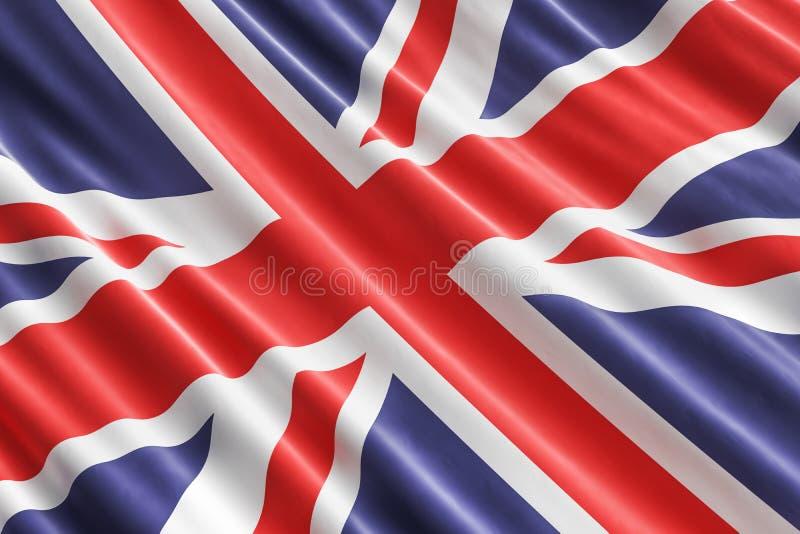 Brytyjski flaga tło, 3D royalty ilustracja