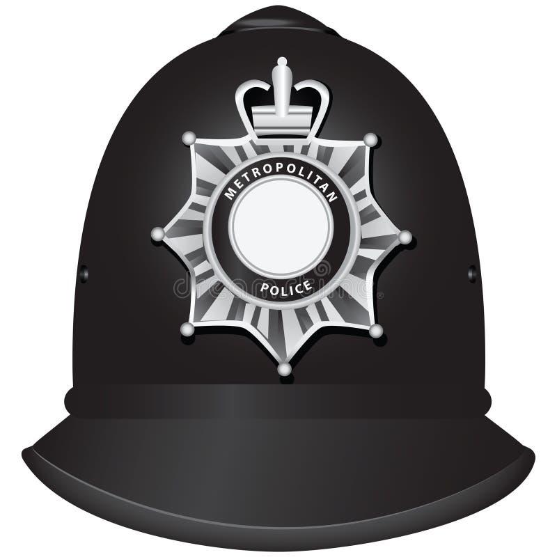 Brytyjski funkcjonariusza policji hełm ilustracji
