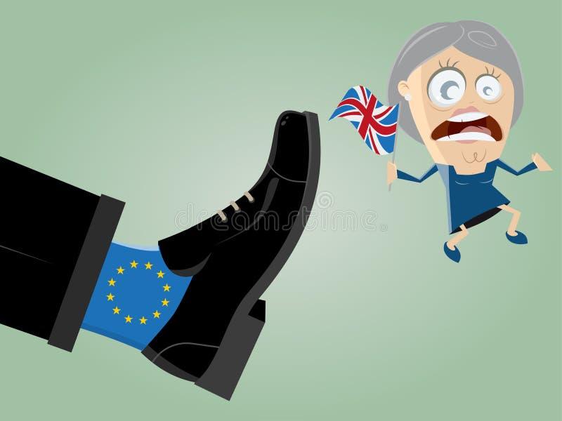 Brytyjski lider dostaje kopał z możnej UE stopy royalty ilustracja
