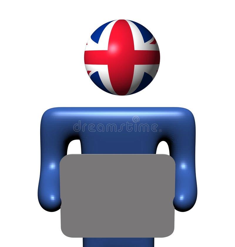 brytyjski mienia osoby znak ilustracja wektor