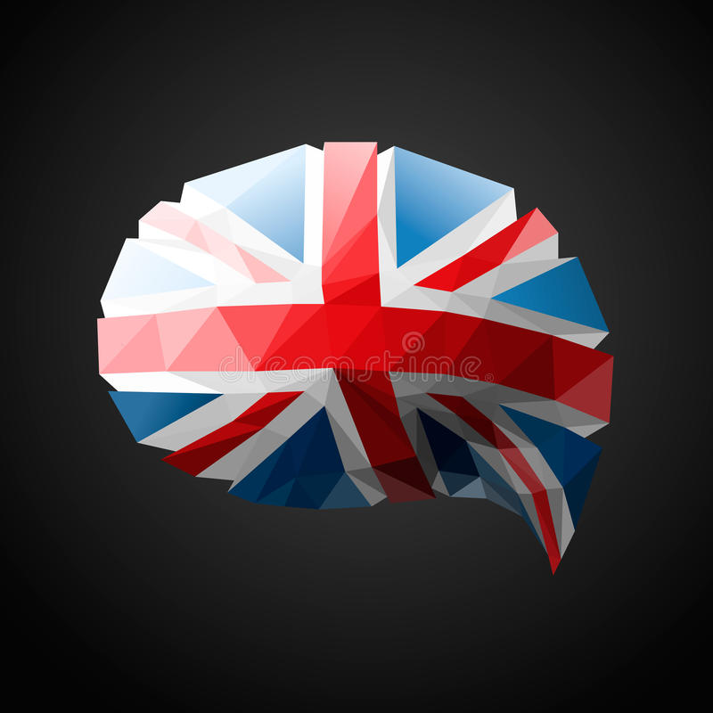 Brytyjski mowy bąbla Chorągwiany tło ilustracja wektor