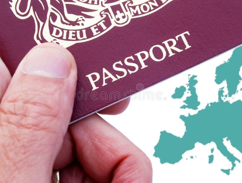 brytyjski paszport royalty ilustracja