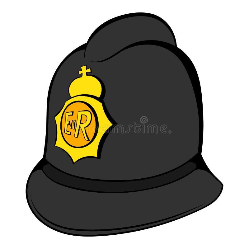 Brytyjski polici hełma ikony kreskówka ilustracja wektor