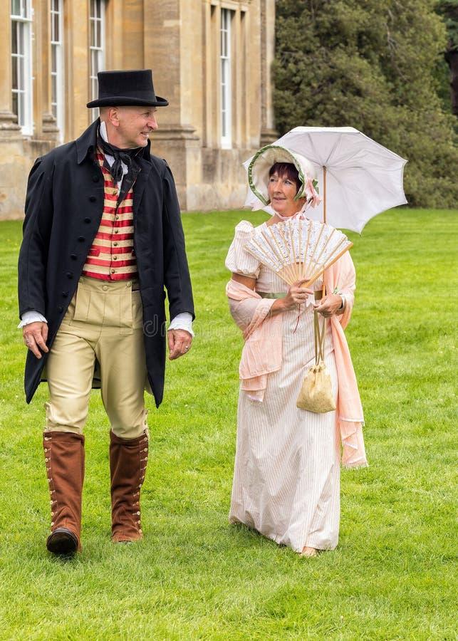 Brytyjski Regencyjny okresu ubiór, Worcestershire Anglia fotografia royalty free