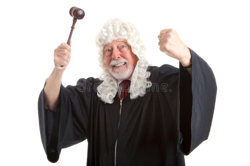 Brytyjski sędzia Udaremniający i Gniewny obraz stock