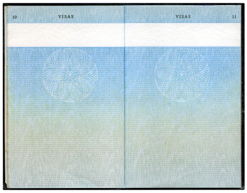 brytyjski stary paszport obraz stock