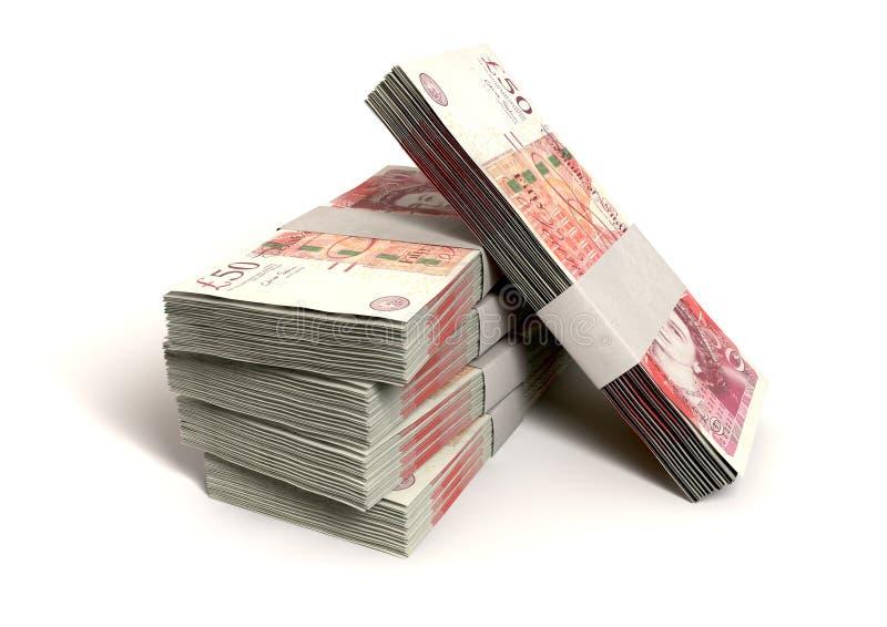 Brytyjski Sto notatek Funtowi pliki zdjęcia royalty free