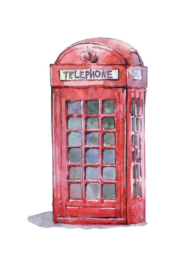 Brytyjski tradycyjny telefoniczny budka ilustracja wektor