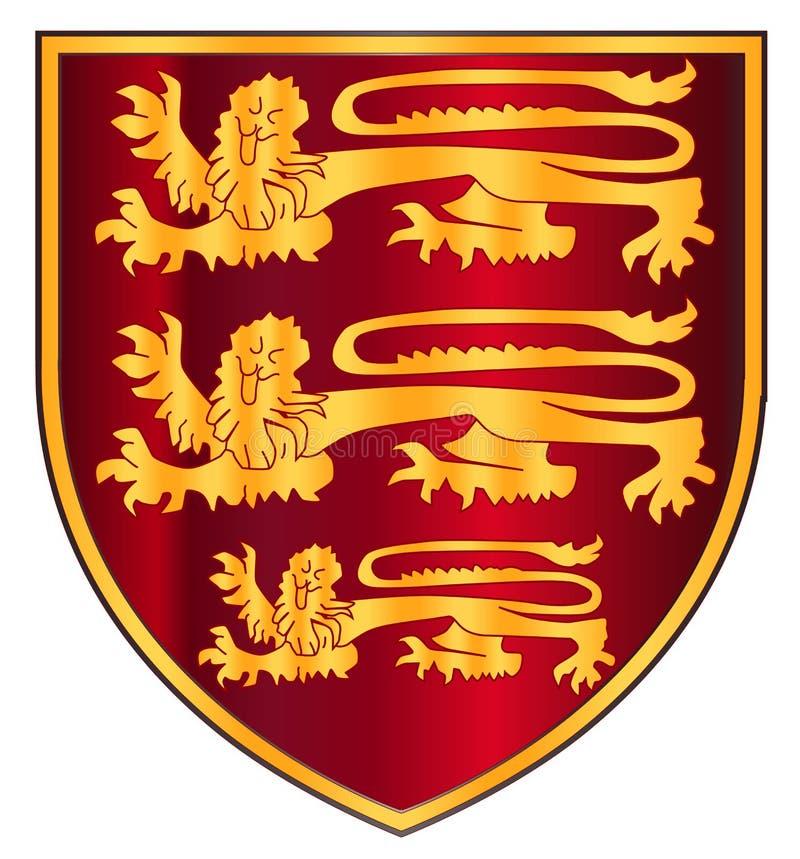 Brytyjski Trzy lwów grzebień ilustracji
