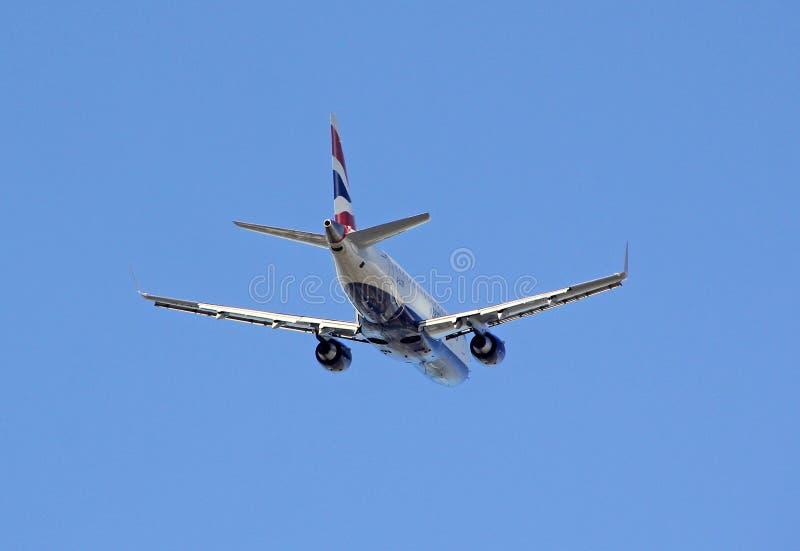 Brytyjskich dróg oddechowych dżetowy samolot obraz royalty free