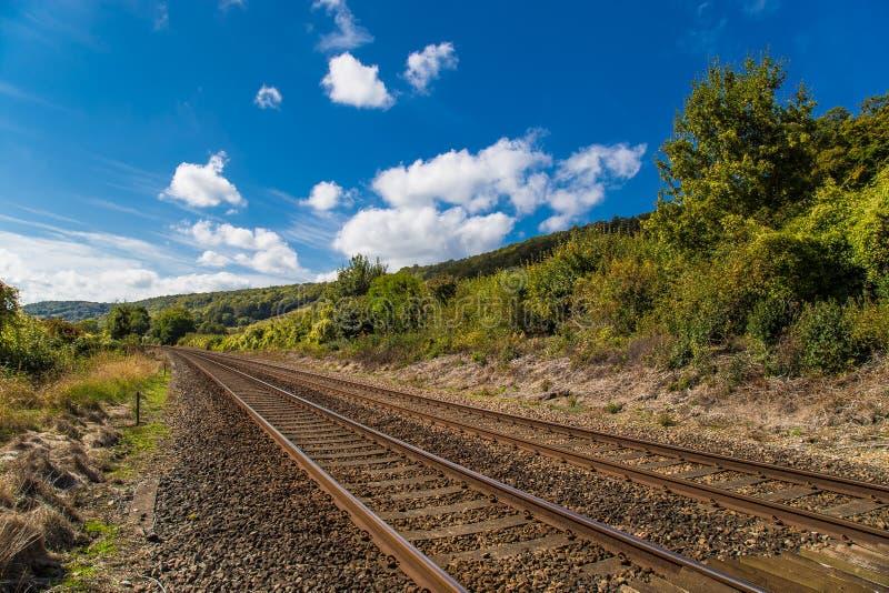 Brytyjskich kolei Pudełkowaty wzgórze Surrey Anglia zdjęcia stock