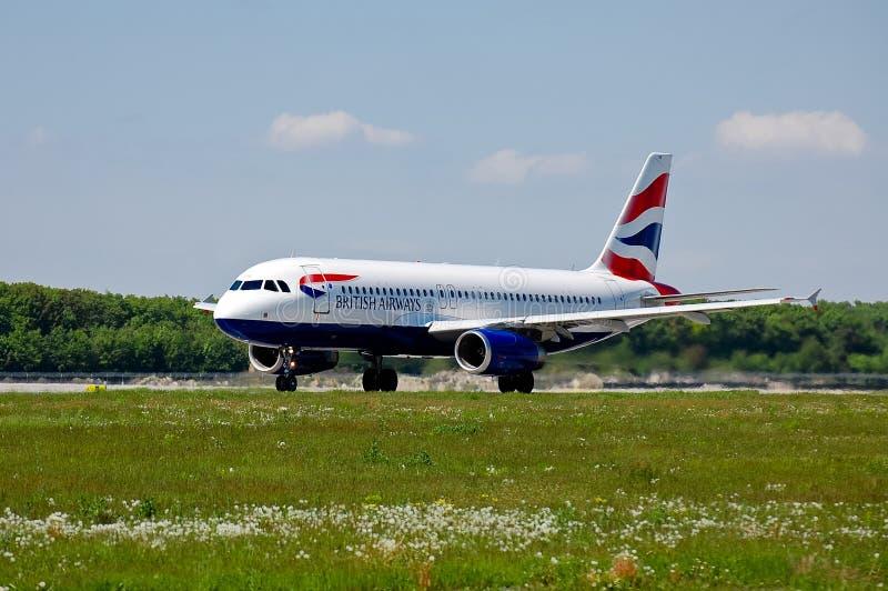 brytyjskie A320 drogi oddechowe Airbus zdjęcia stock