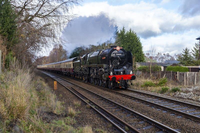 Brytyjskiego kolei BR klasy 7 Standardowa liczba 70000 Britannia fotografia royalty free
