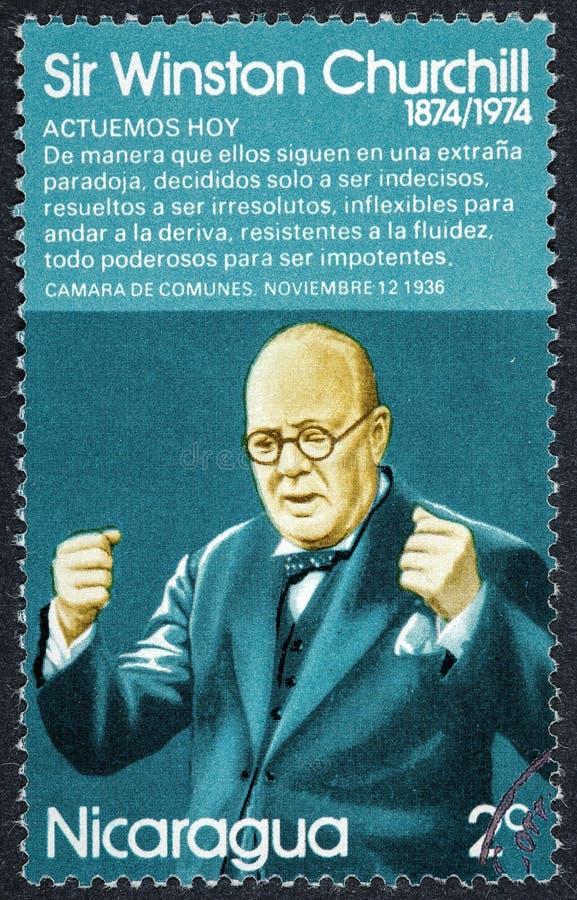 Brytyjskiego polityka Pierwszorzędny minister Zjednoczone Królestwo Sir Winston Churchill obraz royalty free