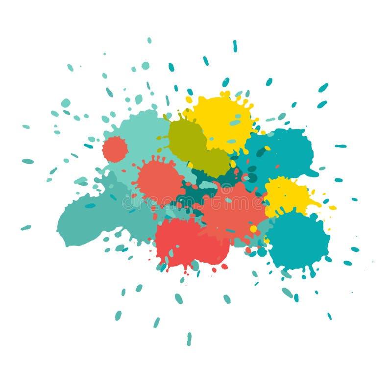 bryzga akwarelę Farba wektoru splat ilustracja wektor